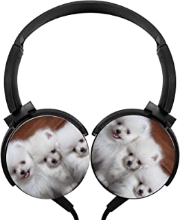 $24 » Lightweight 3.5mm Pomeranian Foldable & Portable Stereo Bass Headphones Funny Wired Headset/Stereo Headphone/Portable Head...