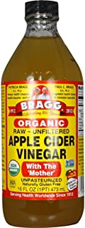 Bragg Organic Apple Cider Vinegar With the Mother– USDA Certified Organic – Raw, Unfiltered All Natural Ingredients, 16 ounce