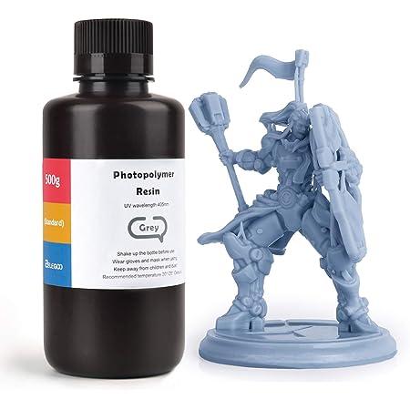 ELEGOO 光造形3Dプリンター用 ABS類似UVレジン 500g 光硬化可能樹脂 3Dプリンタ向け (灰色)