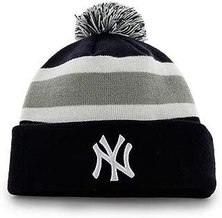 '47 Brand Breakaway Cuff Beanie Hat with POM POM - MLB Cuffed Winter Knit Baseball Cap