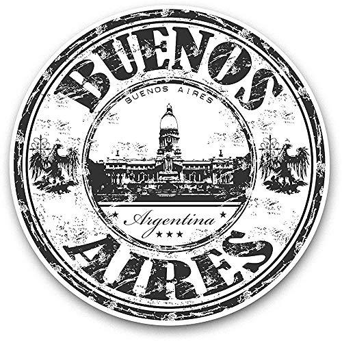 Lplpol Buenos Aires Argentina - Sello de viaje para ordenador portátil, color blanco y negro (3 unidades)