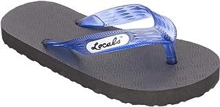 "Locals Original Slippa 10.5"" Black/Transparent Blue - Sizing: Men Size US 6.5-7.5 and Women Size US 7.5-8.5 - Flip Flop Sl..."