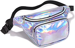 Holographic Fanny Pack,iSPECLE Neon Belt Bag for Festival Party Women Men