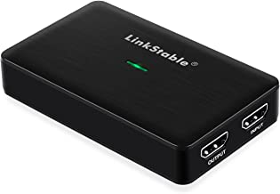 LinkStable USB 3.0 HD Video Game Capture Card Device Compatible for Windows 10/8 / 7, macOS 10.14 (Game Recorder, HDMI Video Converter)