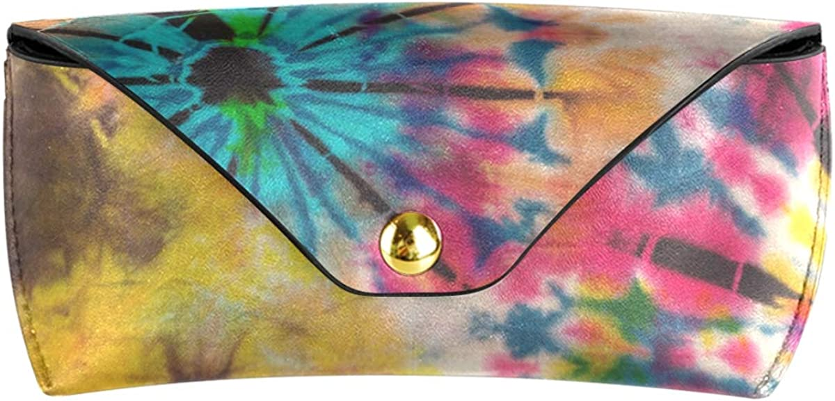 gift PU Leather Sunglasses Case Eyeglasses Pouch Multiuse Colorful Tie Dye Pattern Goggles Bag Portable