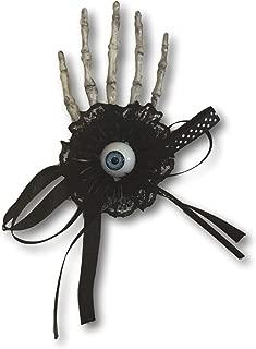 eyeball bow hair clips