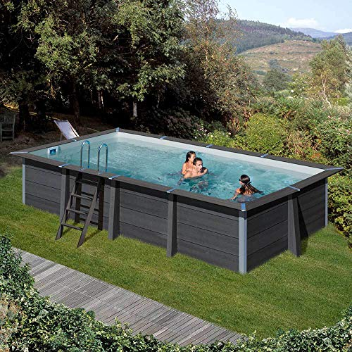 Piscina desmontable GRE de composite rectangular altura 124 cm KPCOR60