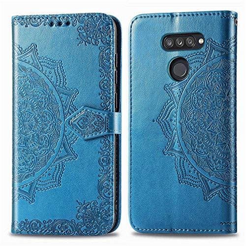 Bear Village Hülle für LG K50S, PU Lederhülle Handyhülle für LG K50S, Brieftasche Kratzfestes Magnet Handytasche mit Kartenfach, Blau