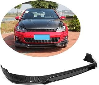 MCARCAR KIT Front Bumper Lip fits Volkswagen VW Golf 7 MK7 GTI Hatchback 2014-2018 Add-on Pure Carbon Fiber Chin Spoiler Splitter Protector
