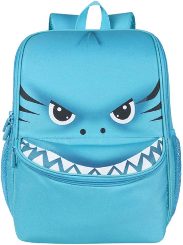 CASUALBOYS Cartoon Tierform Leichte Kinder Schulrucksack Ruckscke Für Jungen Und Mdchen Schultaschen 3-6 Jahre Blau-34  25  15cm