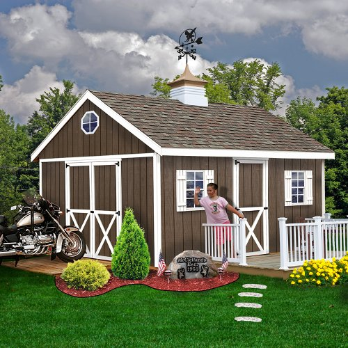 Best Barns Easton 12 ft. x 16 ft. Wood Shed Kit