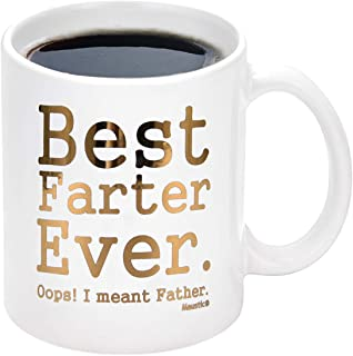 كوب قهوة مطبوع عليه Best Dad Gift Best Farter Ever Oops I Meant Father Funny Cup Tea Cup Gift Gift Gift for Dad Husband Gr...