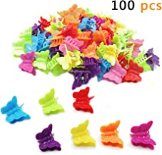 Butterfly Hair Clips, 100 Packs Assorted Color Beautiful Mini Butterfly Hair Clips Hair Accessories for Girls and Women(Random Color)By QMET