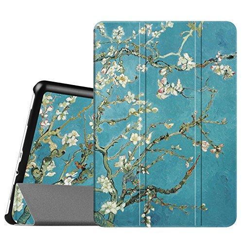 FINTIE Custodia per Samsung Galaxy Tab A 9.7 - Ultra Sottile di Peso Leggero Tri-Fold Case Cover con Funzione Sleep/Wake per Samsung Galaxy Tab A 9.7' SM-T550 / SM-T555 Tablet, Blossom