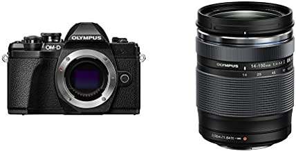 Olympus OM-D E-M10 Mark III Camera Body (Black), Wi-Fi Enabled, 4K Video with 14-150mm F4.0-5.6 II Lens