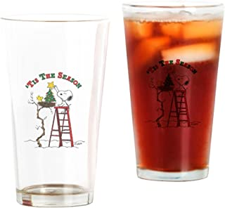 CafePress Peanuts Tis The Season Pint Glass, 16 oz. Drinking Glass