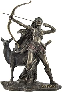 Veronese Bronzed Artemis Goddess of Hunting and Wilderness Statue
