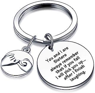 Christmas Jewelry for Best Friends Sister Jewelry BFF Keychain Birthday Jewelry