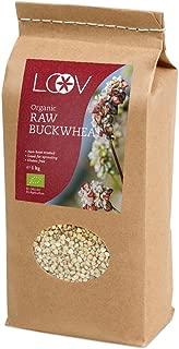 Semillas de trigo sarraceno orgánico crudo sin gluten (1 kg) por Loov, sin tratamiento térmico, todos los nutrientes se conservan, cultivado orgánicamente en climas nórdicos, sin OGM