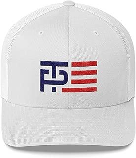 LiberTee Donald Trump Mike Pence Hat, MAGA Logo Adjustable Snapback Trucker Hat, Printed and Shipped from USA
