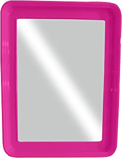 Kabello Square Shape Home Decor Use Wall Hanging Mirror For Wash Basin And Bathroom Use 20 Grams Pack Of 1 (Pink)