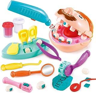 LVYE1 Juguete del Dentista Arcilla De Moldear Kit De Dentista Molde Dental Juguetes Educativos Juguete Educativo Escuela De Aula y Doctor De rol