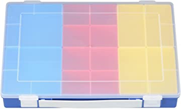 Hünersdorff Cajas de surtido PP PREMIUM, 14 Cajas insertables con mango, azul, 225x335x55 mm