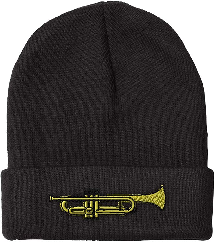 Max 64% 25% OFF OFF Beanies for Men Trumpet Music B Women Embroidery Acr Winter Hats