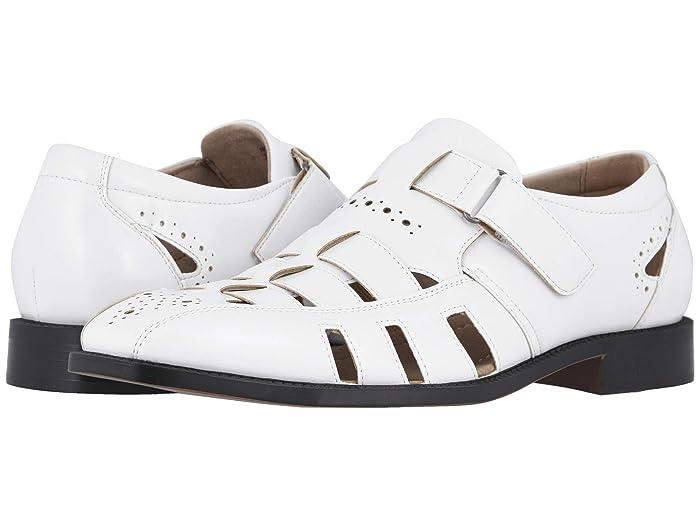 60s Mens Shoes | 70s Mens shoes – Platforms, Boots Stacy Adams Calax Fisherman Sandal White Mens Shoes $69.95 AT vintagedancer.com