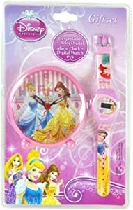 Reveil + Montre Princesse Disney Decoration chambre enfant Fille