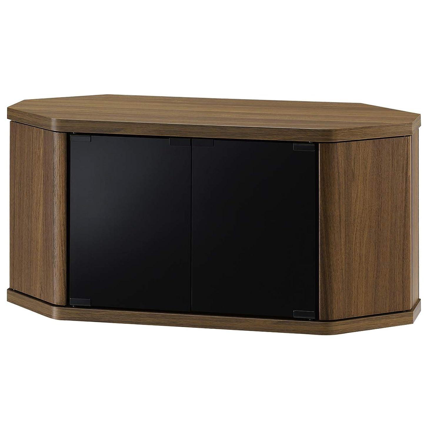 退屈バラエティ三朝日木材加工 テレビ台 RACINE 32型 幅79cm ブラウン キャスター付き コーナー対応 RCA-800AV-CR