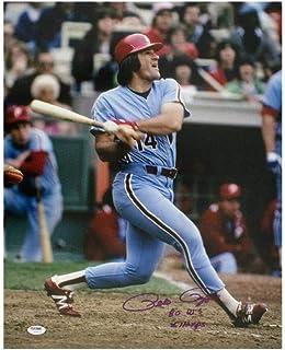 Pete Rose 80 WS Champs Autographed Philadelphia Phillies 16x20 Photo - PSA/DNA COA (B)