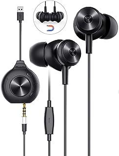 Auriculares In Ear, Bluedio Li Pro Auriculares con Cable con Micrófono, Aislamiento de Ruido, Diseño Magnético, Estéreo Envolvente Virtual USB de 7.1 Canales, para Todos Auriculares de 3.5 mm Enchufe