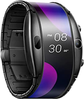 """Nubia Alpha Smart Watch 4.01"""" Flexible OLED Display, 8GB 1GB RAM, Stainless Steel Band, 5MP Camera"""