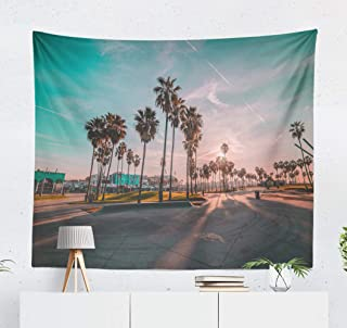Kutita Tapestry Wall Hanging Beach Venice California City Landscape Architecture Beautiful Beauty Wall Tapestry Home Decorations for Bedroom Living Room Dorm Decor in 60