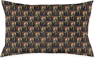 Funda de Almohada Pillow Cover 20x30 Inch Lovely Elephant Named Future Primitive Cotton Linen Pillowcase Zippered