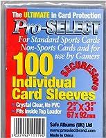 Pro-Select-Protèges-Cartes-Sachet de 100 protèges cartes Transparantes