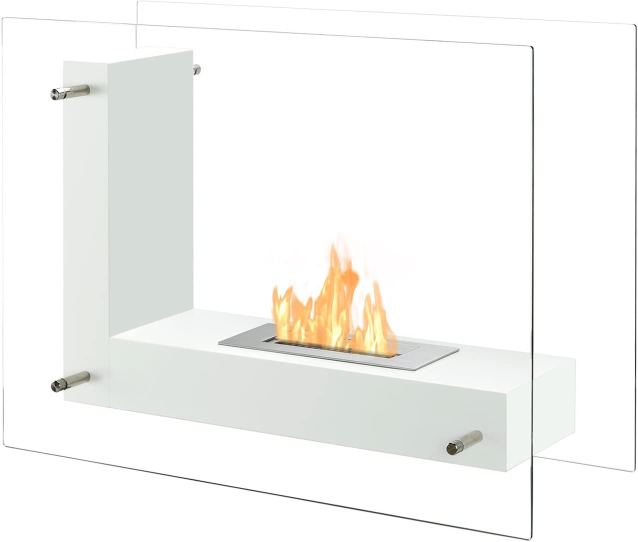 Freestanding Ventless Bio Ethanol Fireplace Vitrum Wholesale - supreme White L I