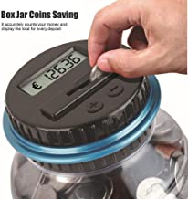 💕💕 Clear Digital Piggy Bank Coin Savings Counter LCD Counting Money Jar Change Gift