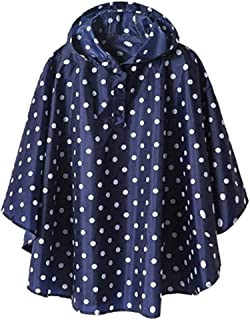 Perfeclan Girls Rain Jackets Lightweight Waterproof Hooded Raincoats for Kids, 4 Sizes