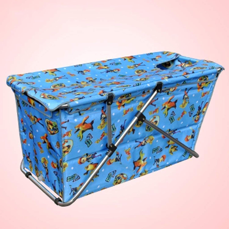 Bathtub, Pools Soaking Baths Adult Folding Bucket Tarpaulin Inflatable Thickening Insulation Folding Barrel Bathtubs -bluee 1,- Tub