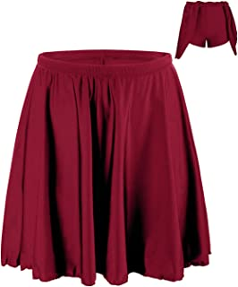 Mycoco Women's Swim Bottom UV 50+ High Waist Swim Skirt Multi-Purpose Athletic Sports Tankini Bottom