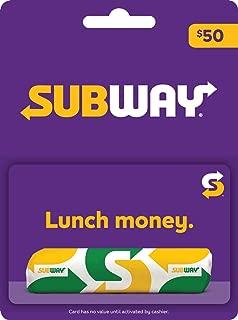 subway gift card canada