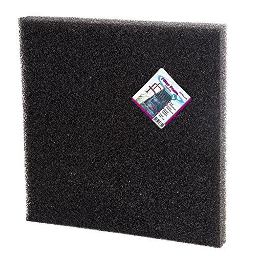 VT 142236 filterschuim voor vijverfilter tegen alle watervertroebelingen, grof, 2 cm dikte, individueel op maat te snijden, filter foam, zwart