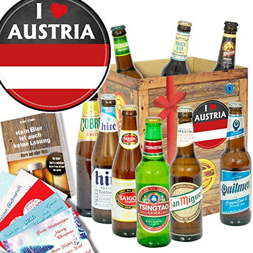 I love Austria/Geschenkpaket Österreich/Biere der Welt