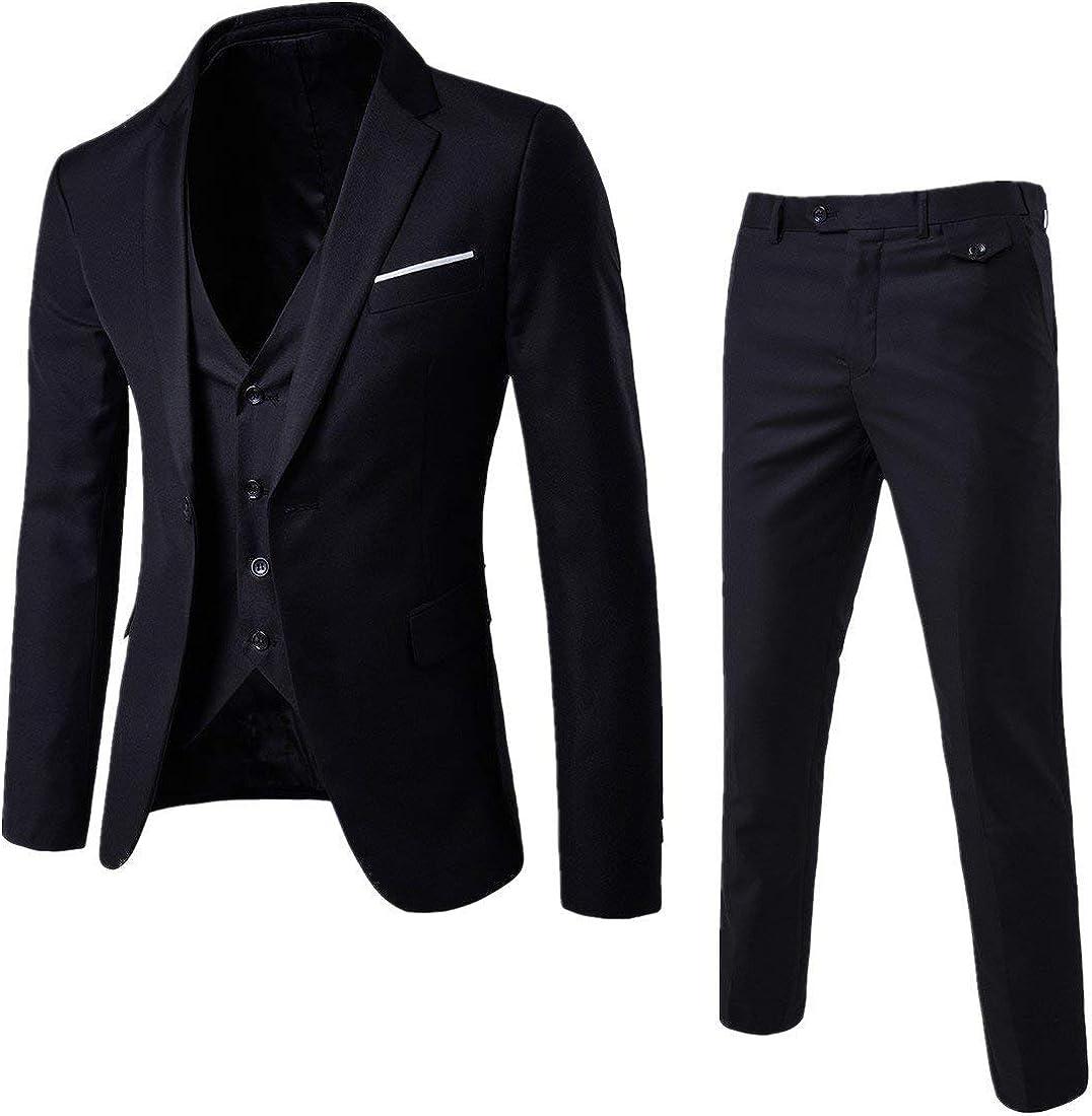 Frank Men's Tuxedo 3 Pieces One Button Business Working Suit