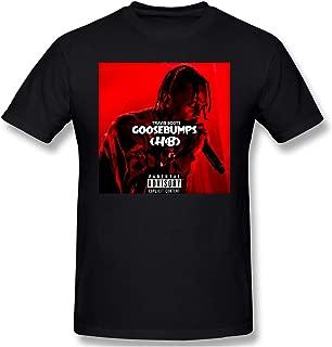 Travis Scott Goosebumps Mens Graphic Blouse Short Sleeve Casual T-Shirt