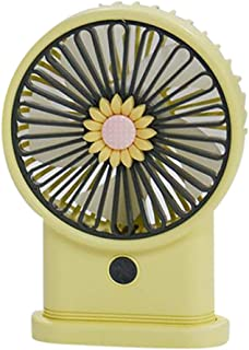 VJGOAL Mini Ventilador de Mesa Portátil Oficina Verano Silencioso Recargable USB Girasol Ventilador de Mano