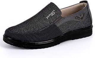 gracosy Mocassins Homme, Chaussures Bateau Ville en Cuir Synthétique et Textile Loafter Slip on A Enfiler pour Travail Mar...