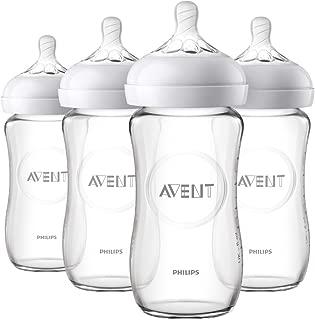 Philips AVENT 飞利浦 新安怡 天然玻璃婴儿奶瓶,8盎司/约227.3毫升,4个装,SCF703 / 47
